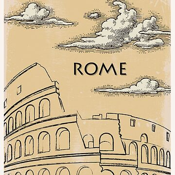Rome vintage poster travel by paulrommer