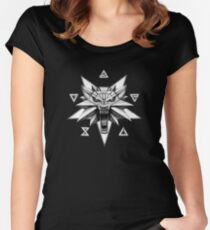 The Witcher - Logo Signs Women's Fitted Scoop T-Shirt