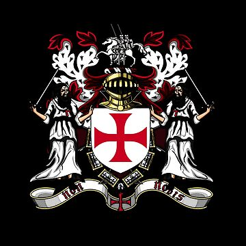 Crusades Knights Templar Coat of arms by ValentinaHramov