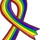 Rainbow Awareness Ribbon by Kat Sanders