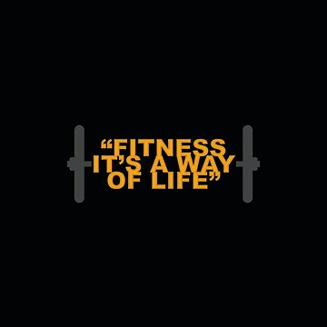 Fitness it's a... Gym Motivational Quote by MOSAICART