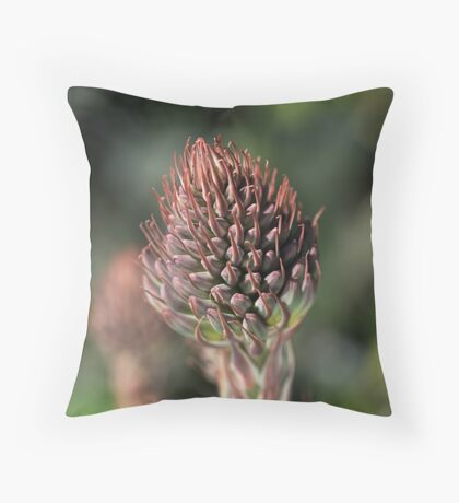 Succulent Bud Throw Pillow