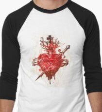 Flaming Heart Of Thorns Men's Baseball ¾ T-Shirt