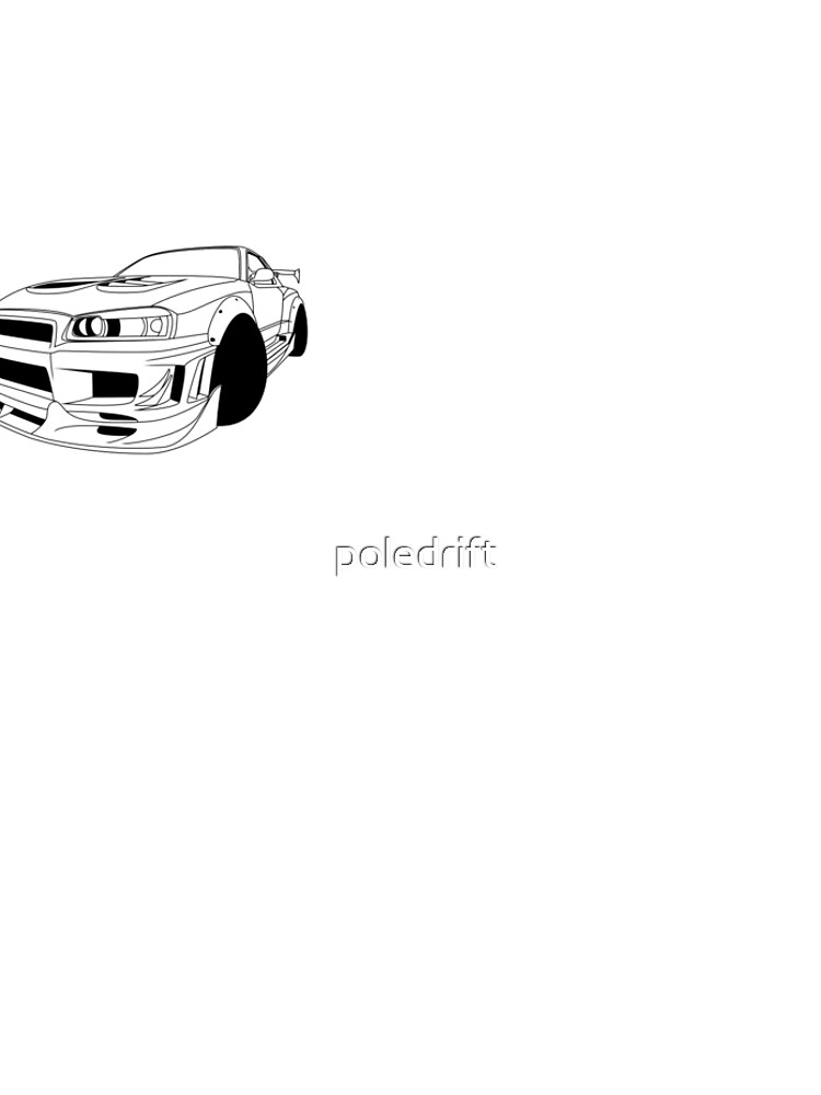 Nissan Skyline R34 Gtr Lineart Leggings By Poledrift