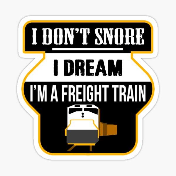 I Don T Snore I Dream I M A Bear Funny Snoring Sticker By Creativestrike Redbubble