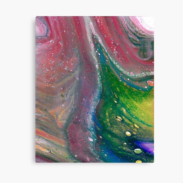 Liquid Ribbon Candy Swirl Canvas Print