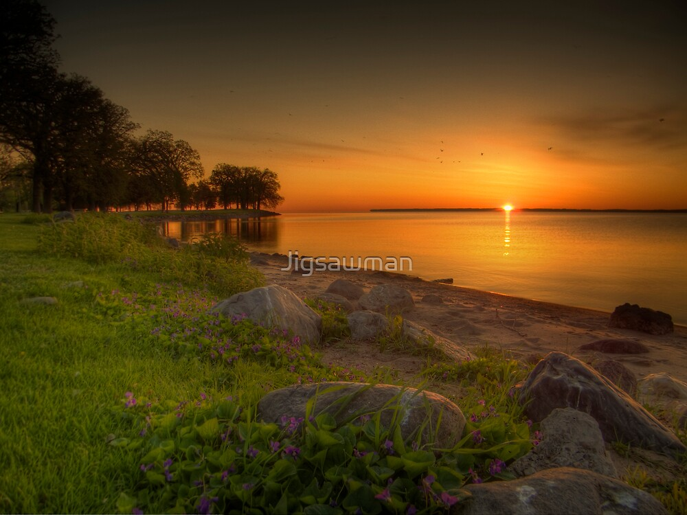 Violetter Sonnenaufgang by Jigsawman