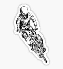 mountain bike cross Sticker