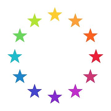 Colorful Europe, Rainbow Stars, EU by boom-art