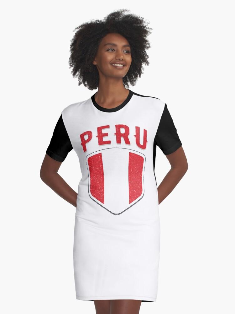 e1bd26152 2018 Peru Flag Soccer Team World Mundial T Shirt Cup Tshirt Graphic T-Shirt  Dress