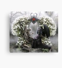 Your heart is beating me to death everyday Canvas Print