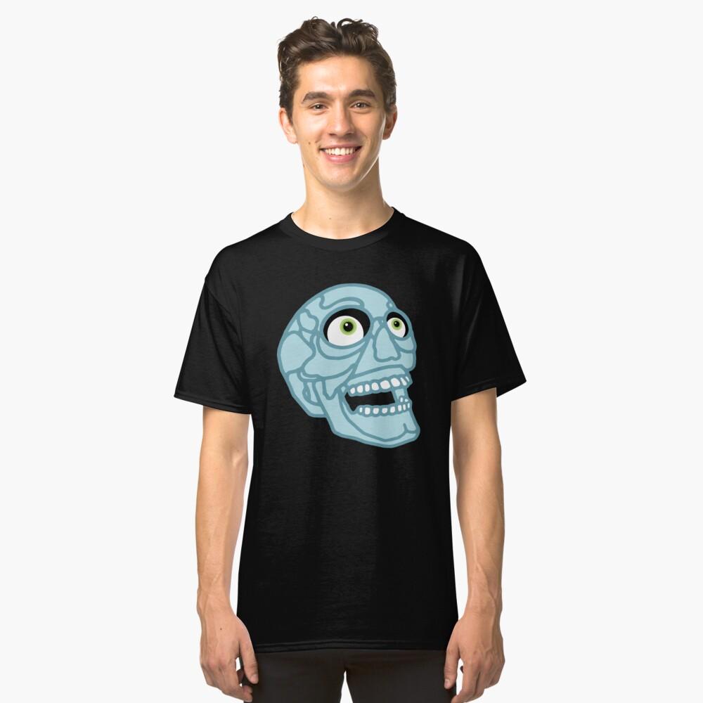 Skull (blue) Classic T-Shirt