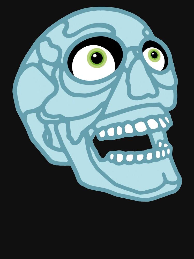 Skull (blue) by tierneyart