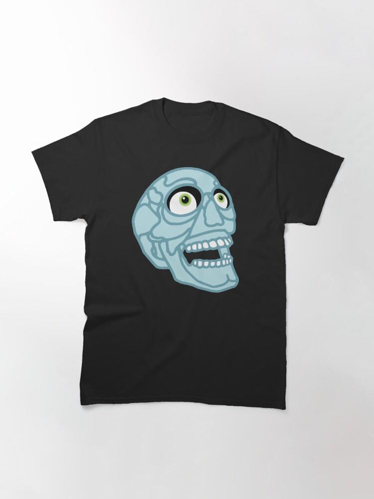 Alternate view of Skull (blue) Classic T-Shirt