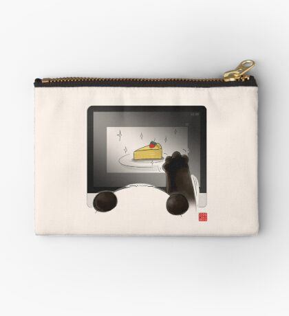 Right Cake, Wrong Time, Wrong Place Zipper Pouch