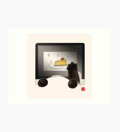 Right Cake, Wrong Time, Wrong Place Art Print