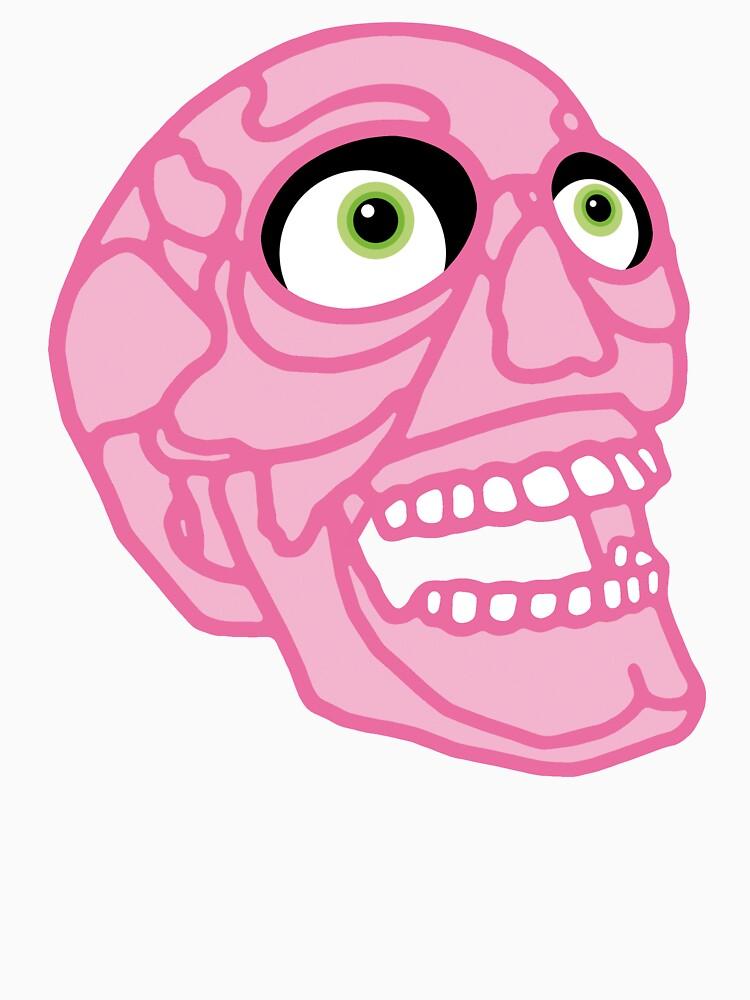 Skull (pink) by tierneyart