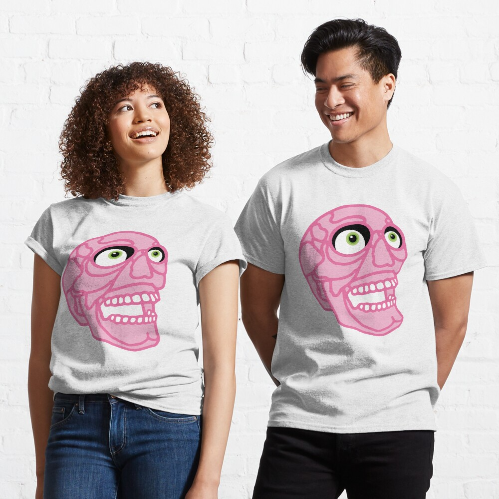 Skull (pink) Classic T-Shirt