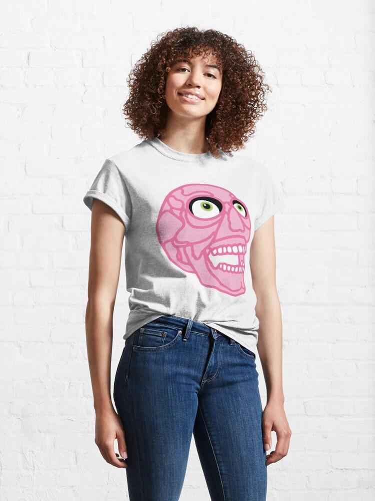 Alternate view of Skull (pink) Classic T-Shirt