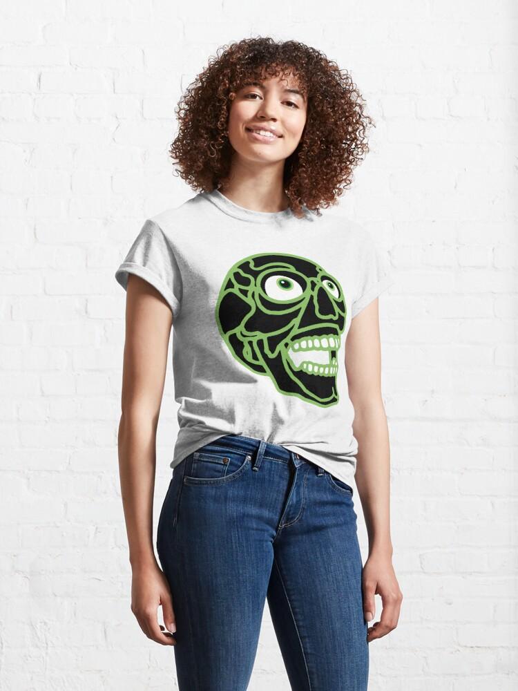 Alternate view of Skull (black) Classic T-Shirt