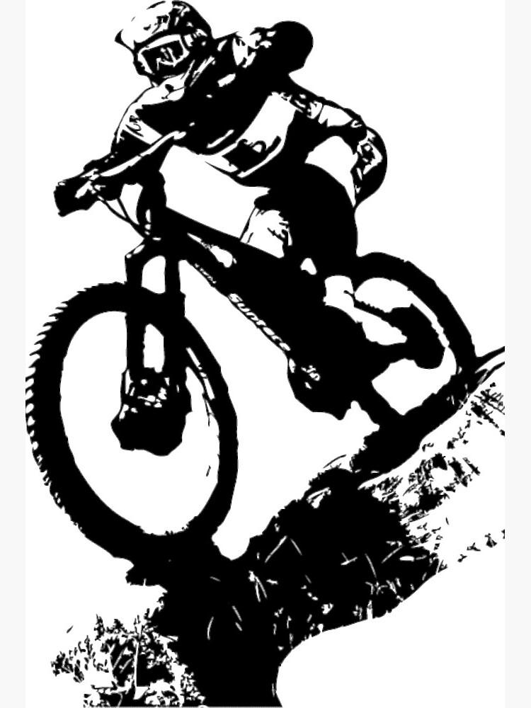 down hill MTB hooded top bike and forest print Mountain bike hoodie