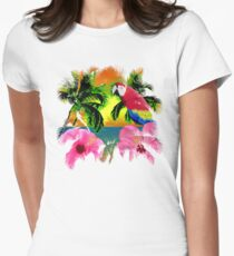 Palm Trees And Island Sunsets Womens Fitted T-Shirt