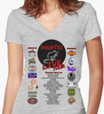 Mouse Rat Live Tour Edition Women's Fitted V-Neck T-Shirt