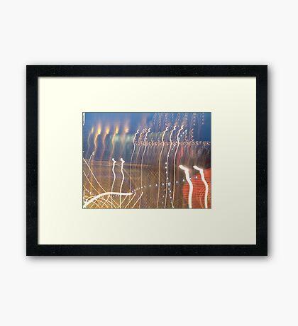 Sky Hooks? Framed Print
