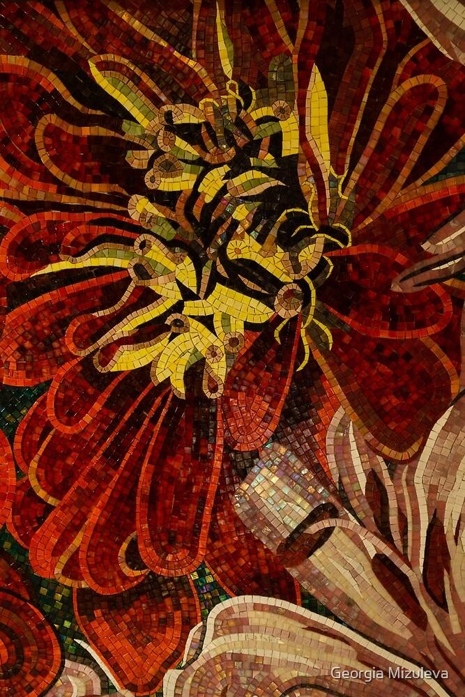 Effervescent - Sparkling, Vivacious Ceramic Tile Mosaic by Georgia Mizuleva