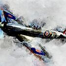 Spitfire - Watercolor by artyfarts