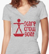 Scarecrow Boat Bachalor Party Edition Women's Fitted V-Neck T-Shirt