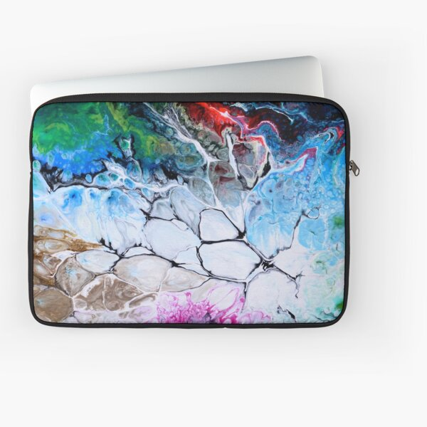 white blue green and red abstract illustration Laptop Sleeve