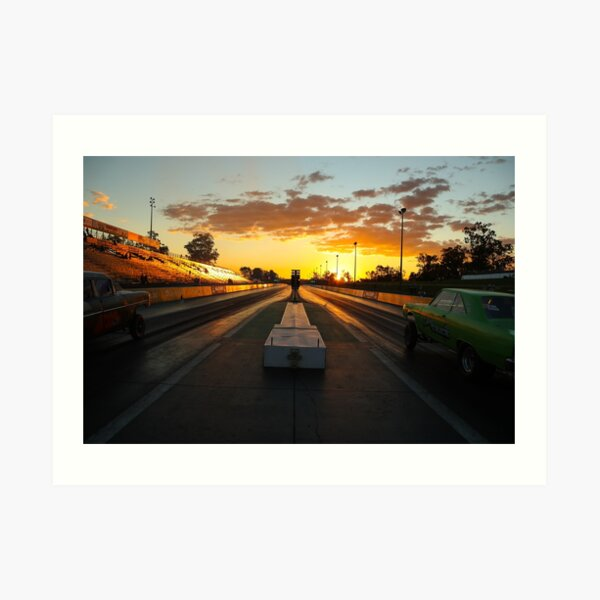 Drag Racing Sunset Art Print