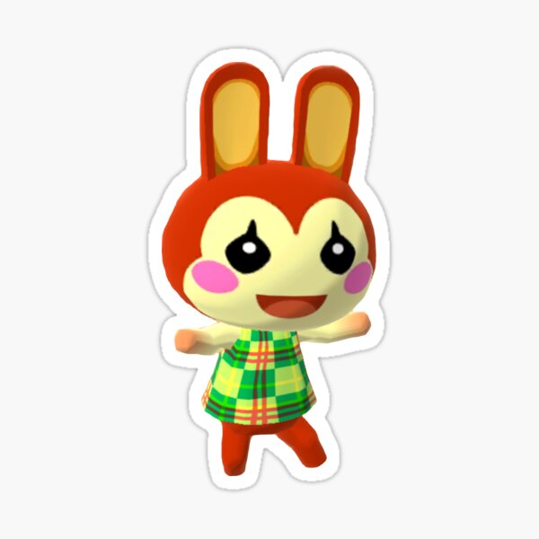Animal Crossing Pocket Camp Bunnie is happy Sticker