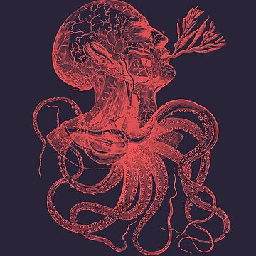 Octopussy Man under the Sea Conceptual Art  by signorino