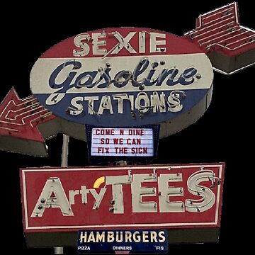 ArtyTEES Gas and Burgers Neon Sign by Artyteeslondon