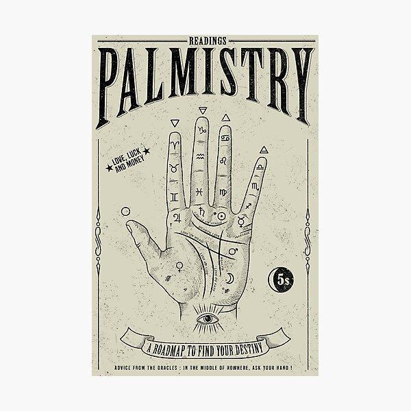 Palmistry Photographic Print