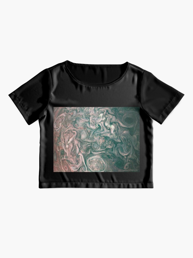Alternate view of Jupiter Abstract Painting Chiffon Top