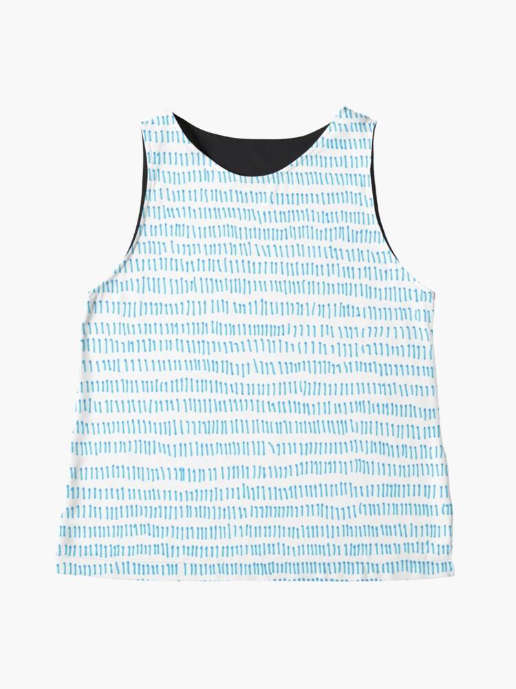 Alternate view of Blue grass - a handmade pattern Sleeveless Top