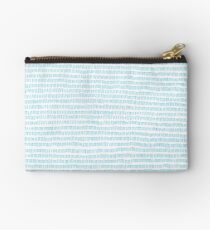 Blue grass - a handmade pattern Zipper Pouch