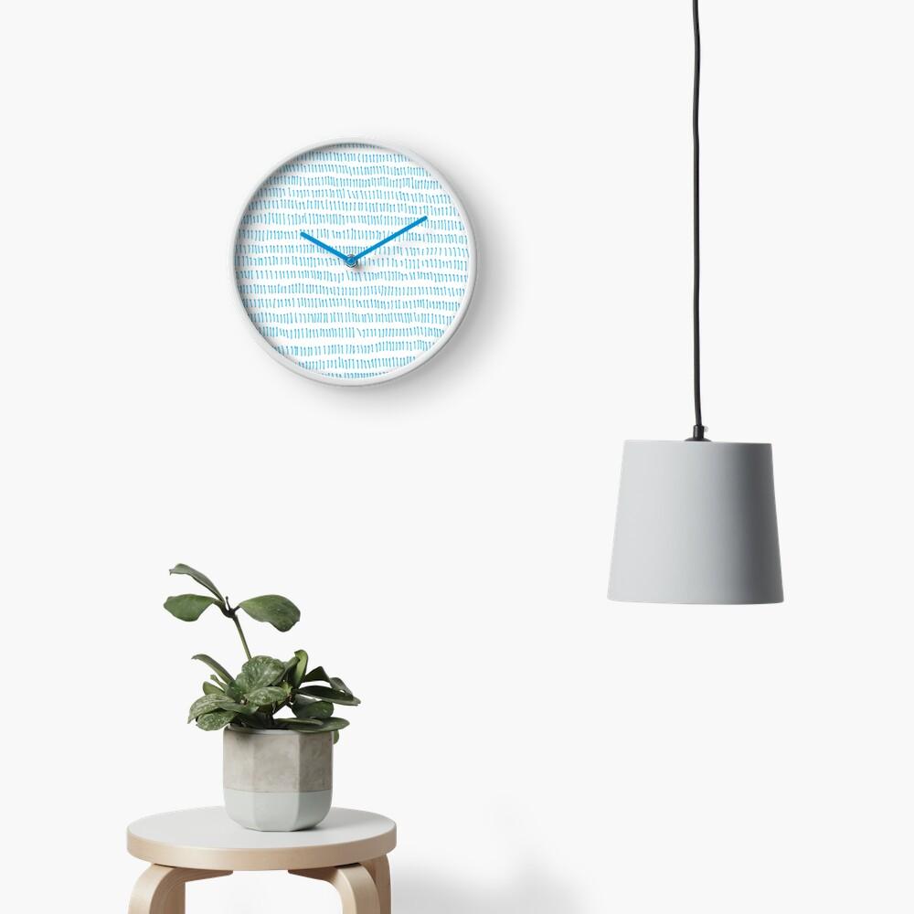Blue grass - a handmade pattern Clock