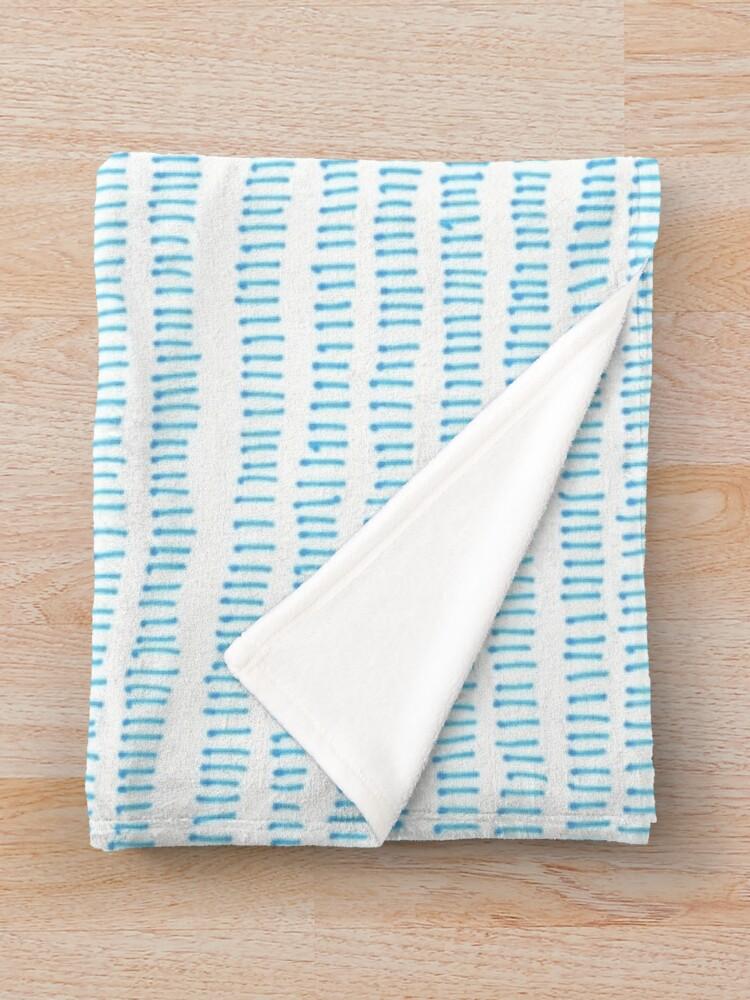 Alternate view of Blue grass - a handmade pattern Throw Blanket