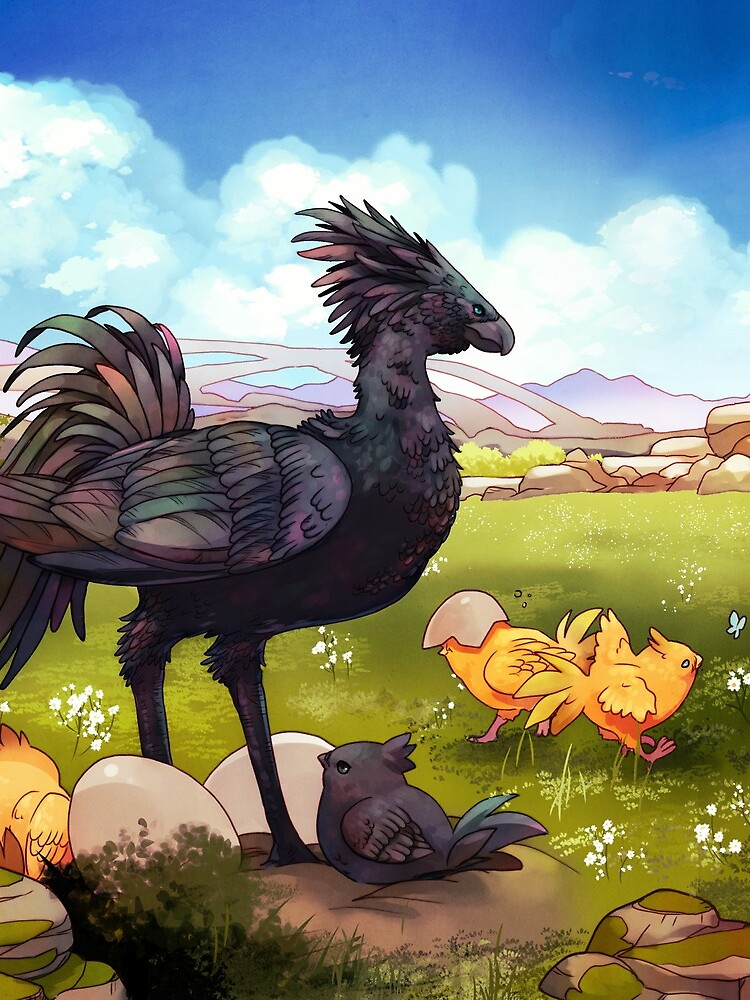 Chocobos by kickingshoes