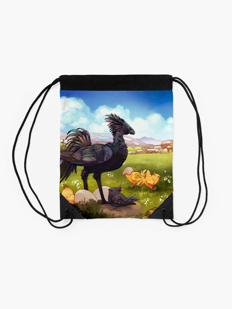 Alternate view of Chocobos Drawstring Bag