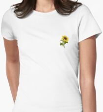 Sunflower Sticker Women's Fitted T-Shirt