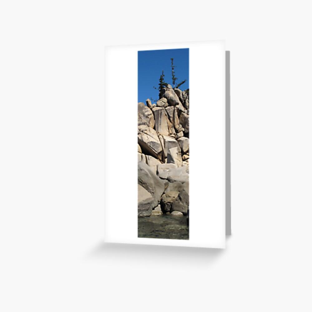 Ocean-Rock-Jungle-Sky II Greeting Card