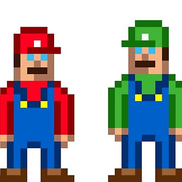 Mario and green Mario by Kellenbrink