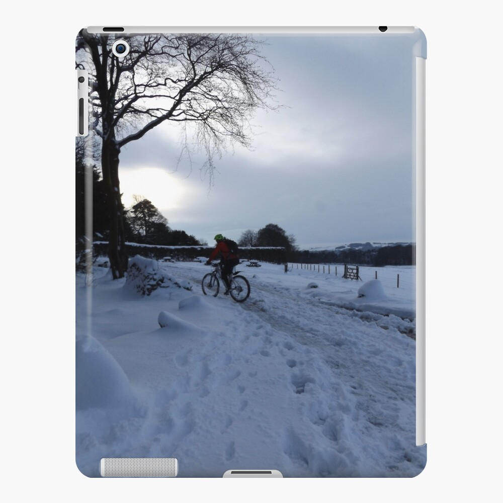 Cycling in the Snow iPad Case & Skin