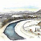 Elbe in Winter by Jens Notroff