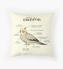 Anatomy of a Cockatiel Throw Pillow